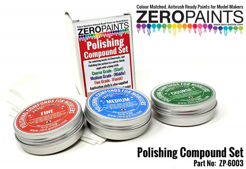Polishing Compound Set (3 Grades+Cloth)