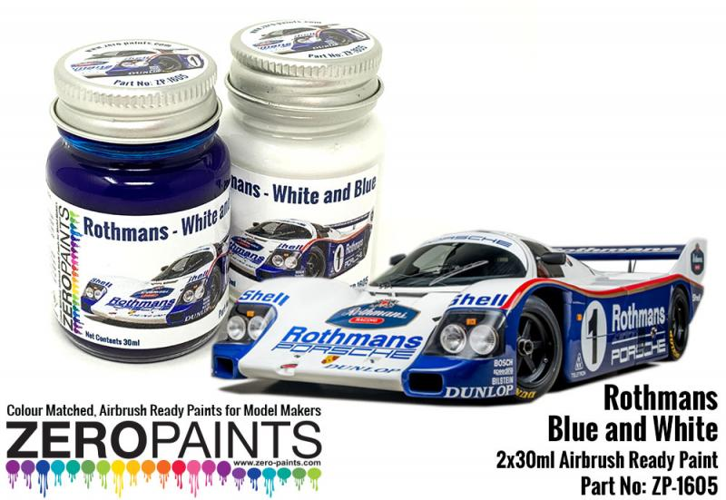 Rothmans Blue and White Paint Set 2x30ml