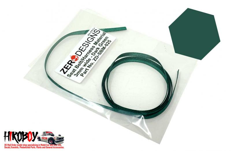 Seat Belt Material 3mm Dark Green