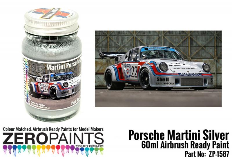 Porsche 911 Martini Silver Paint 60ml