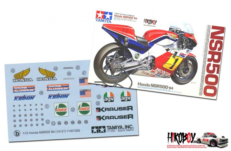 Spare Tamiya Decal B Sheet 1:12 Honda NSR500 '84 14121