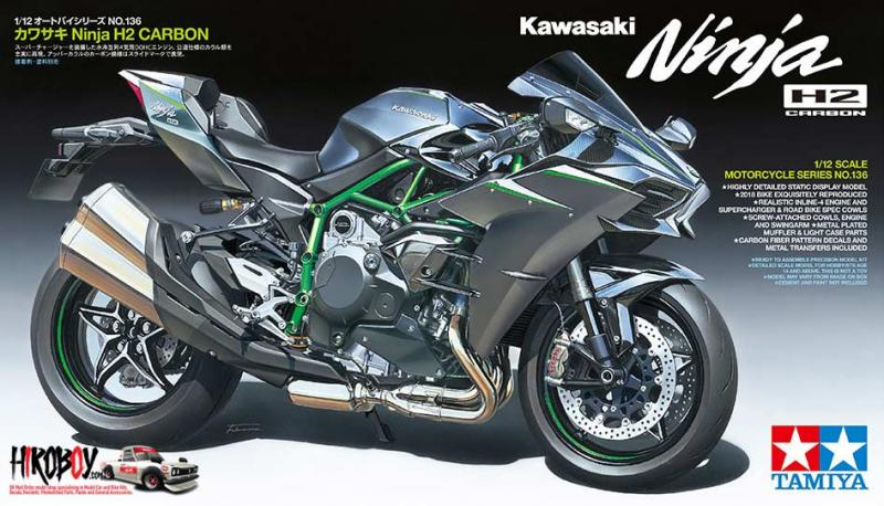 Tamiya 1:12 Kawasaki Ninja H2 Carbon - Model Kit #14136