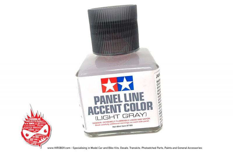 Tamiya Panel Line Accent Colour Light Grey # 87189