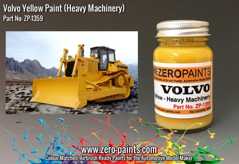 Volvo Yellow (Heavy Plant and Machinery) Paint 60ml