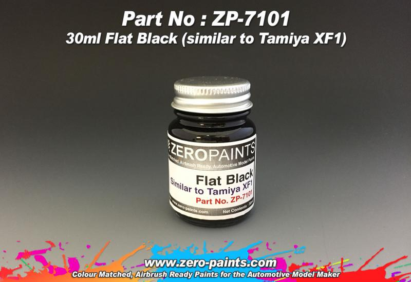 Flat Black Paint 30ml - Similar to Tamiya XF1