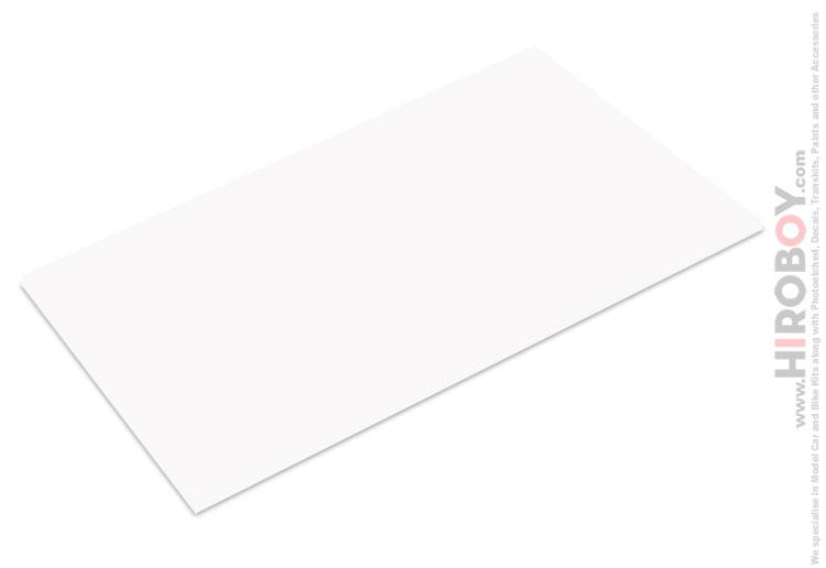 0.5mm Thick White Styrene / Plastic Card Sheet x1