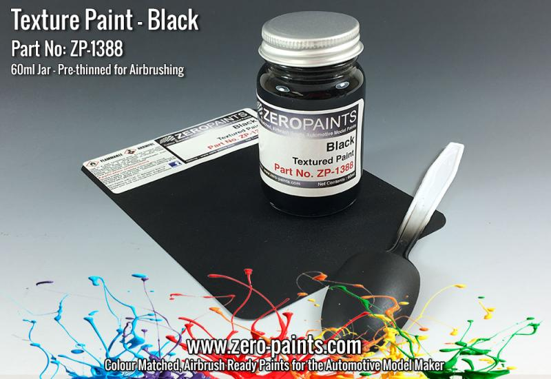 Black Textured Paint - 60ml (Engines, Interiors etc)