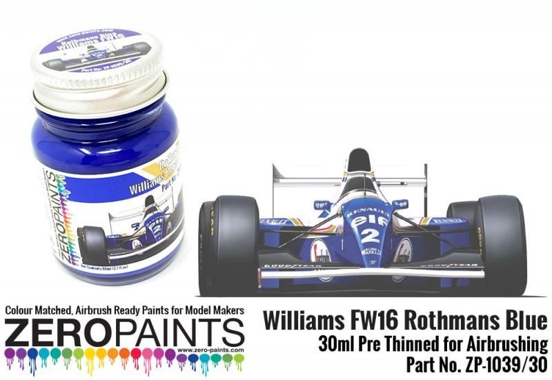 Williams FW16 Rothmans Blue Paint 30ml