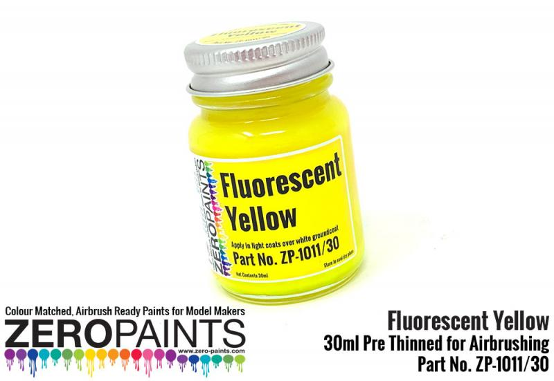 Fluorescent Yellow Paint 30ml