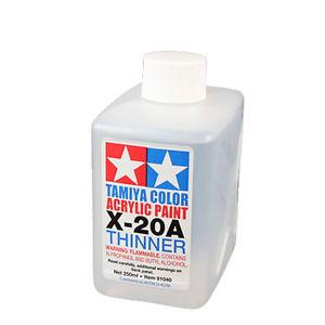 X-20A Acrylic Thinner: 250ml - 81040