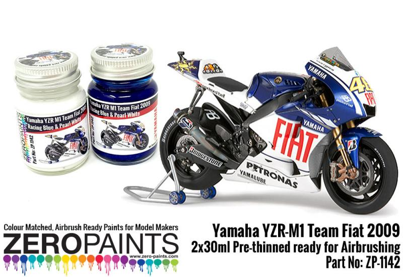 Yamaha YZR-M1 Team Fiat 2009 Paint Set 2x30ml