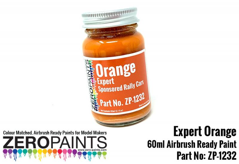 "Orange Paint for ""Expert"" Sponsored Rally Cars 60ml"