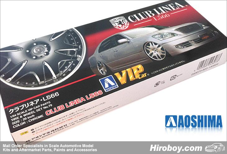 "1:24 Club Linea L566 20"" VIP Wheel and Tyre Set #79"