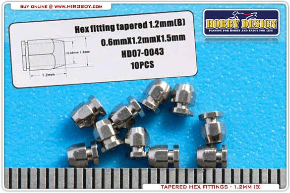 Hex Tapered Fittings 1.2mm (B) 10 pcs