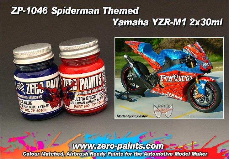 Spiderman Themed Yamaha YZR-M1 (M.Melandri) Paint Set 2 x30ml