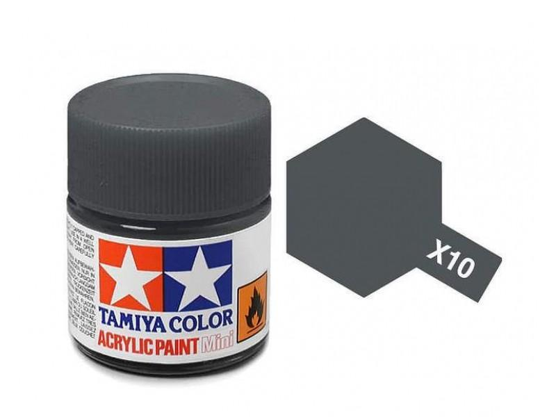 Tamiya Acrylic Mini X-10 Gun Metal  (Gloss) - 10ml Jar