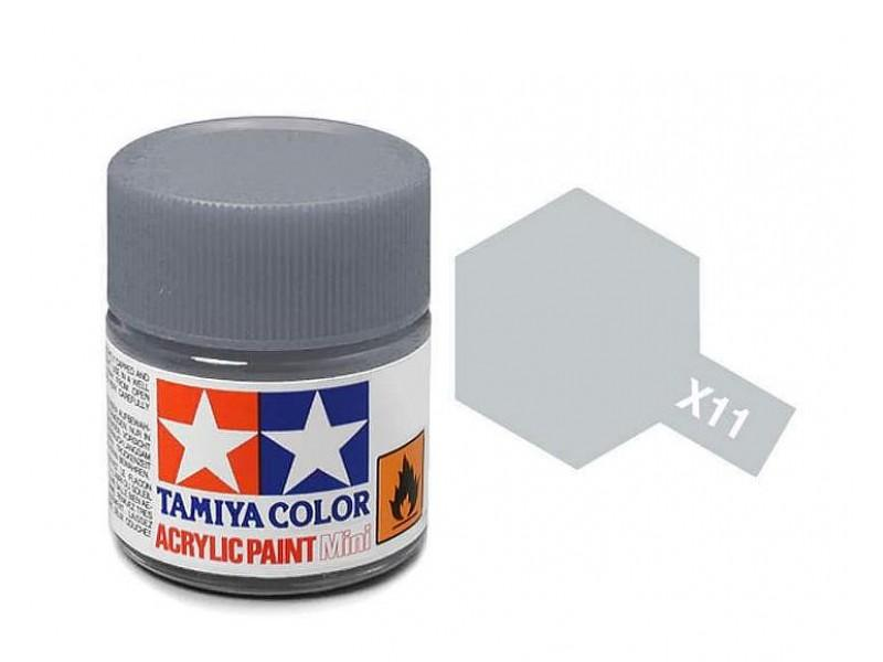 Tamiya Acrylic Mini X-11 Chrome Silver  (Gloss) - 10ml Jar