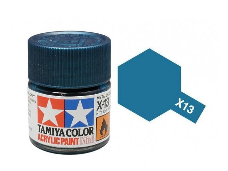 Tamiya Acrylic Mini X-13 Metallic Blue (Gloss) - 10ml Jar