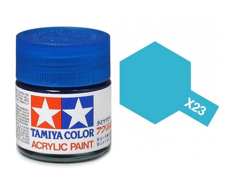 Tamiya Acrylic Mini X-23 Clear Blue (Gloss) - 10ml Jar