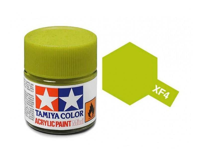 Tamiya Acrylic Mini XF-4 Yellow Green - 10ml Jar