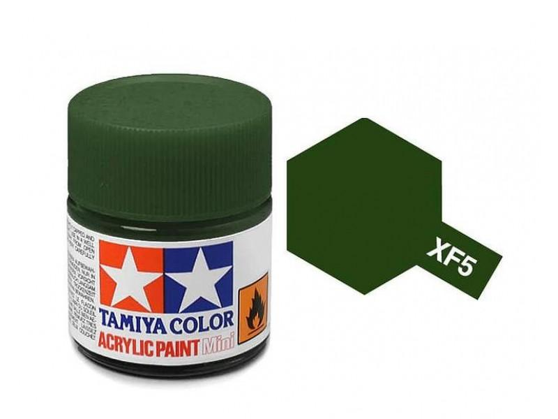 Tamiya Acrylic Mini XF-5 Flat Green - 10ml Jar