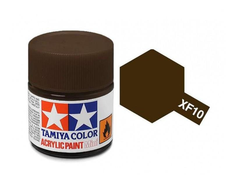 Tamiya Acrylic Mini XF-10 Flat Brown - 10ml Jar