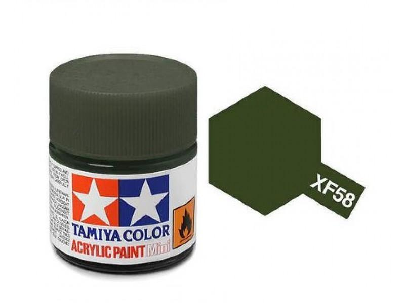Tamiya Acrylic Mini XF-58 Olive Green - 10ml Jar