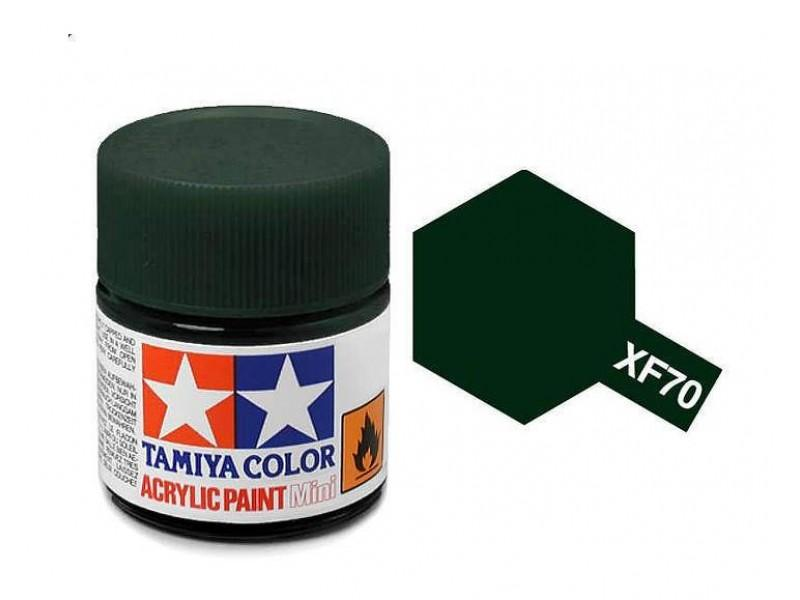 Tamiya Acrylic Mini XF-70 Dark Green 2 - 10ml Jar