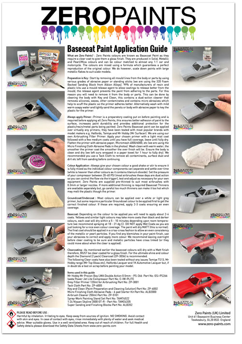 Zero Paints Basecoat Painting Guide | Model Cars and Bike