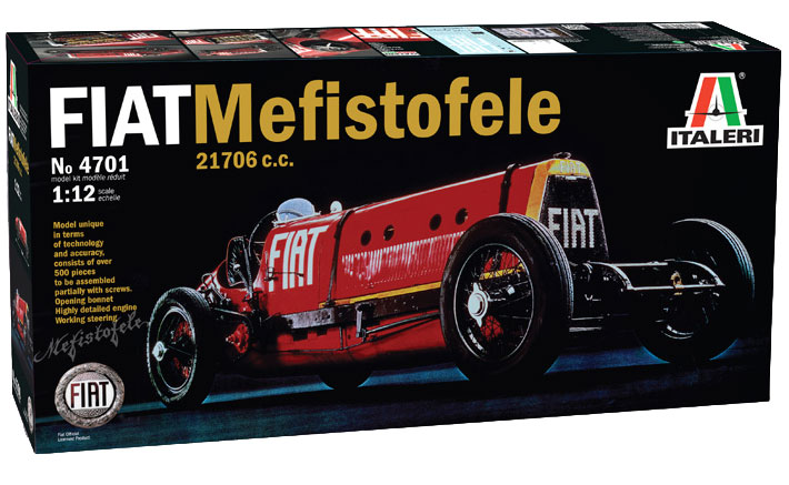 Fiat Mefistofele Italeri on Basic Car Engine Parts