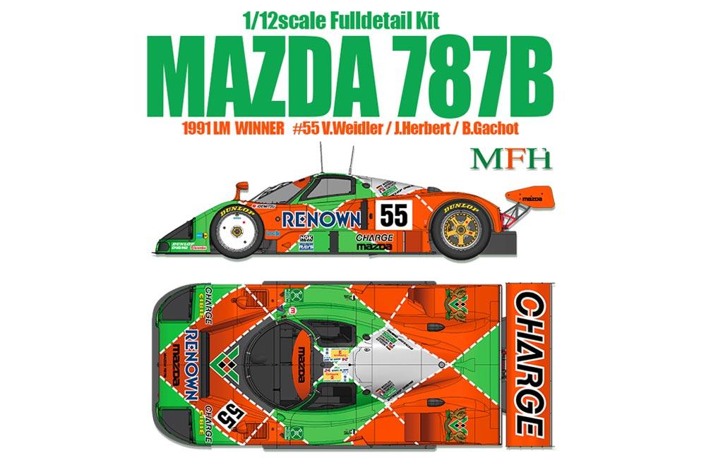 1:12 Mazda 787B Full Detail Multi Media Kit | MFH K628 | Model ...