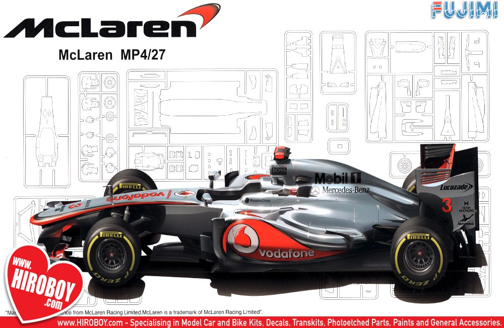 1 20 mclaren mp4 27 australia grand prix model kit fuj 092003 fujimi. Black Bedroom Furniture Sets. Home Design Ideas