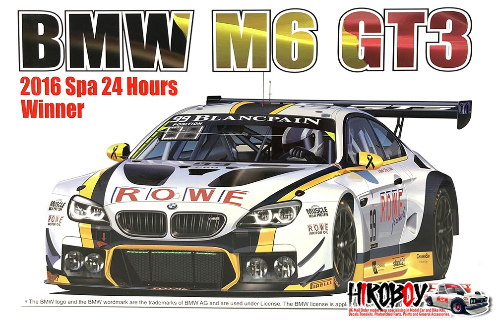 1:24 BMW M6 GT3 ROWE Racing Team Model Kit by Platz | PLZPN24001 | Platz