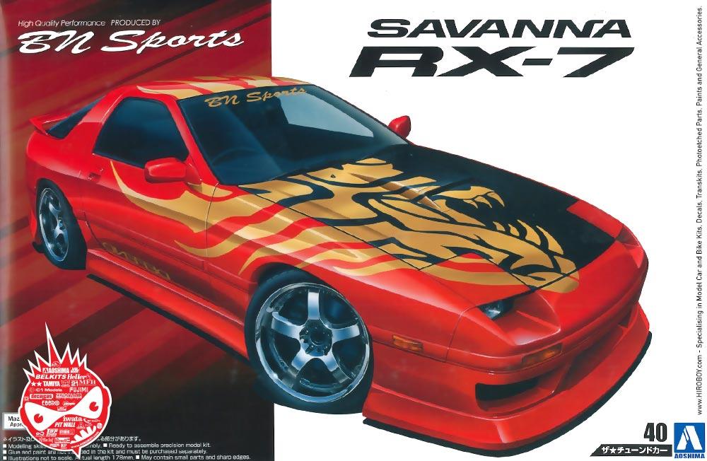 Honda Factory Rims >> 1:24 BN Sports Mazda RX-7 Savanna (FC3S) Model Kit | AOS ...