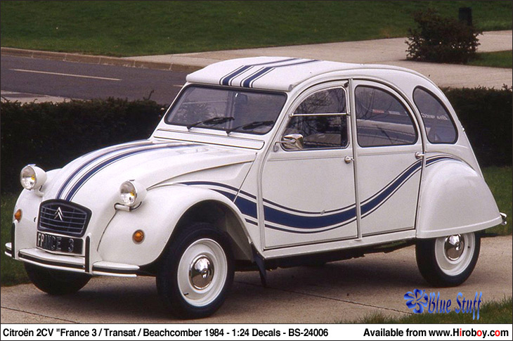 1 24 citroen 2cv france 3 transat beachcomber 1984. Black Bedroom Furniture Sets. Home Design Ideas