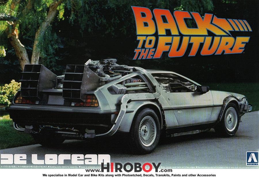 DeLorean DMC 12 Zurück in die Zukunft 1:24 Model Kit Bausatz Aoshima 011850