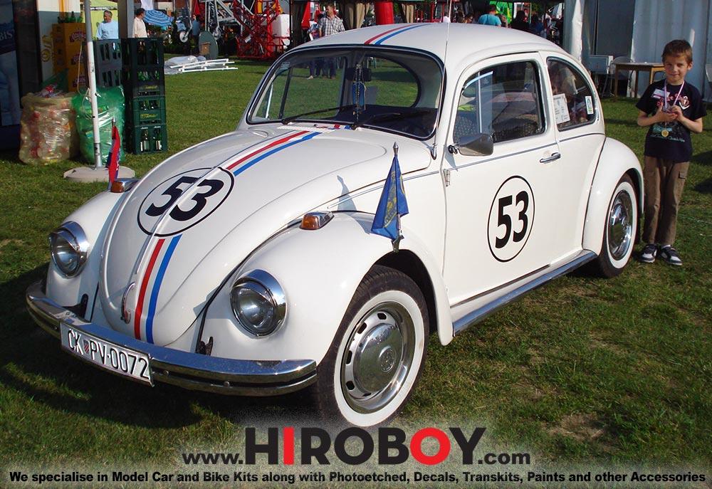 1:24 Herbie VW Beetle 1300 Decals | HD04-0065 | Hobby Design