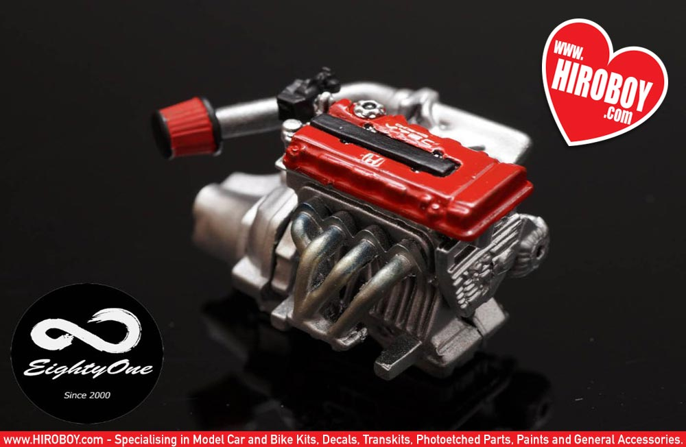 List Of Car Brands >> 1:24 Honda B16 Engine Kit | F81-EK003 | Eightyone (Factory 81)