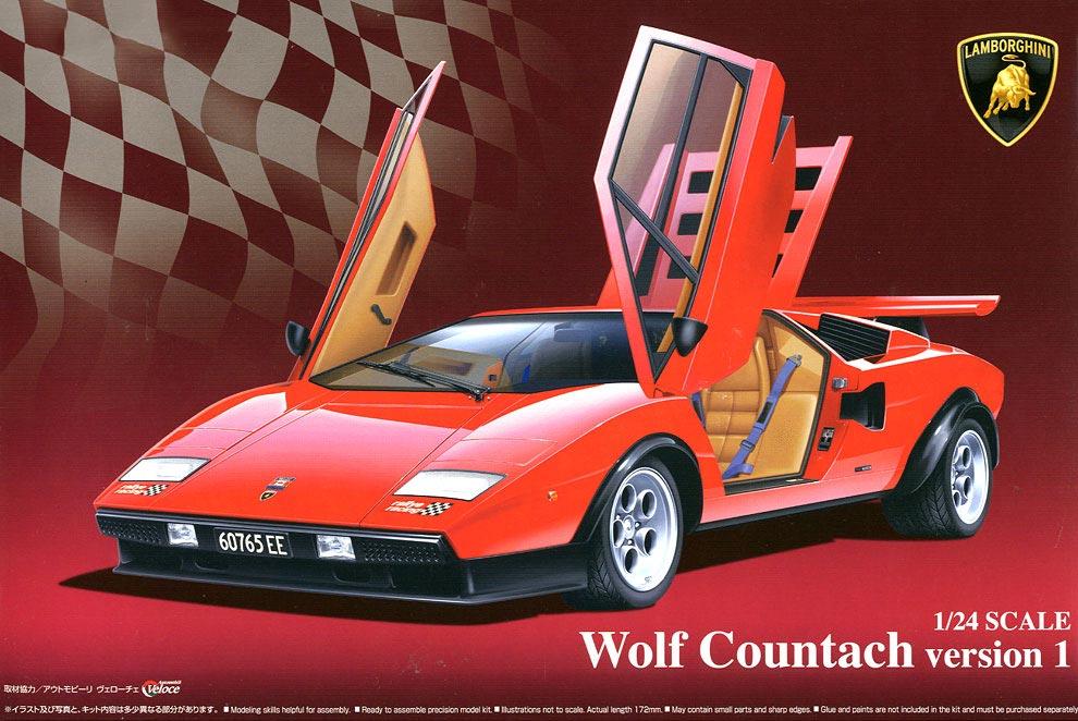 1 24 lamborghini wolf countach version 1 aos 049600. Black Bedroom Furniture Sets. Home Design Ideas