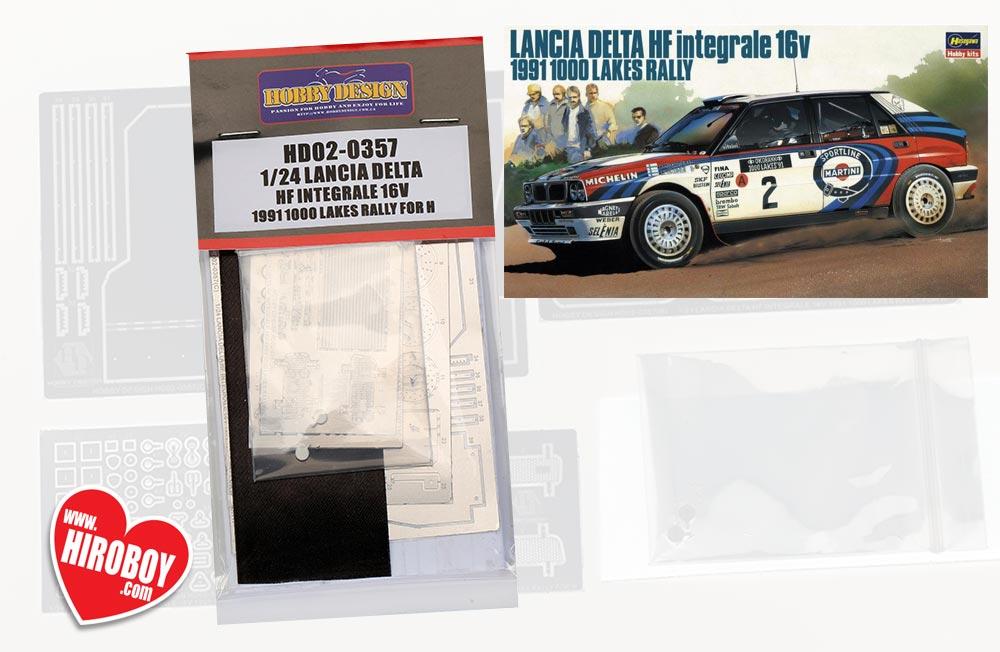 KIT LANCIA DELTA HF INTEGRALE 16v MARTINI 1000 laghi 1991 1//24 HASEGAWA 20289