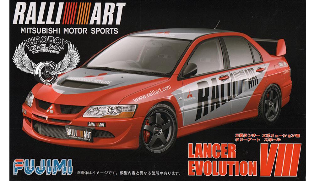 1:24 Mitsubishi Lancer Evo VIII Ralliart | FUJ-038179 | Fujimi
