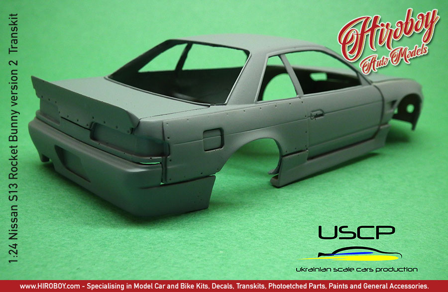 Car Detailing Kit >> 1:24 Nissan S13 Rocket Bunny Version 2 Transkit | USCP-T15004 | USCP-Ukrainian Scale Car Production
