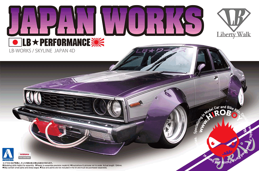 1 24 Nissan Skyline Lb Works Japan Works 4dr Aos 009802