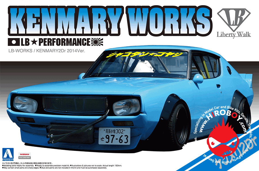 1 24 Nissan Skyline Lb Works Kenmary Works 2dr Aos