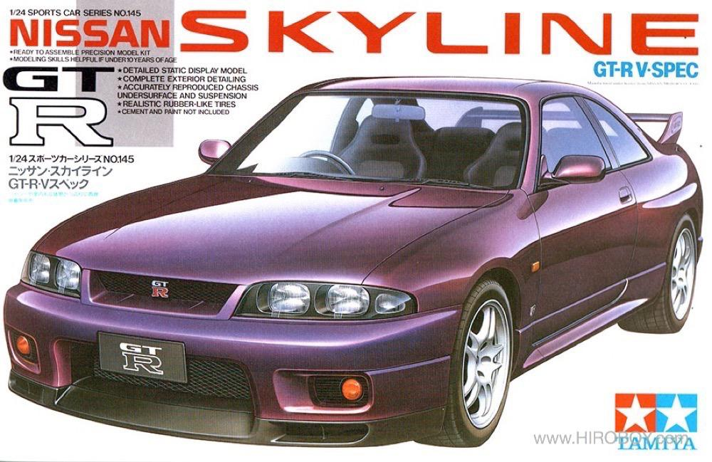 1:24 Nissan Skyline R33 GT-R V Spec - 24145 | TAM24145 | Tamiya