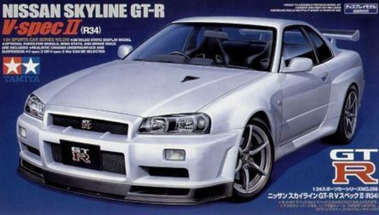 1:24 Nissan Skyline R34 GT-R V-Spec II - 24258 (Limited Re-issue ...