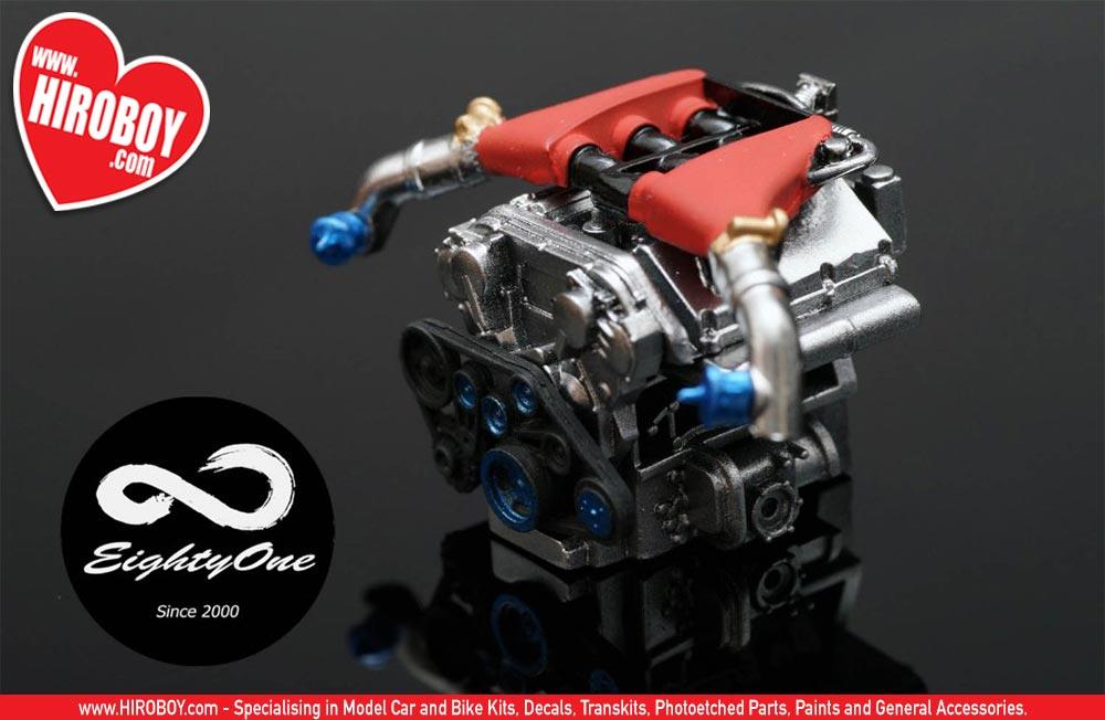 1:24 Nissan VR38DETT Resin Engine Kit (R35 GT-R Engine ...