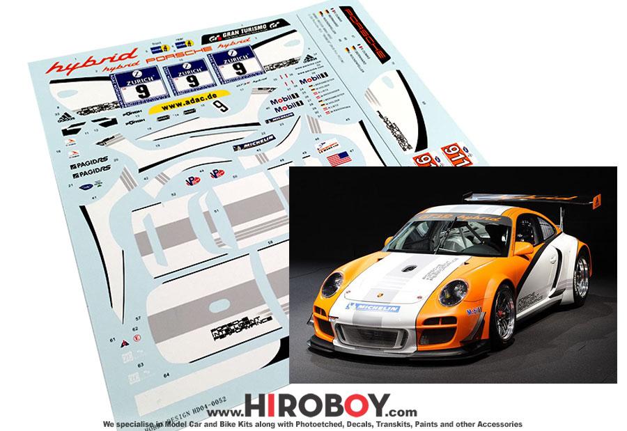 1 24 porsche 911 gt3 r 2010 hybrid decals for fujimi. Black Bedroom Furniture Sets. Home Design Ideas