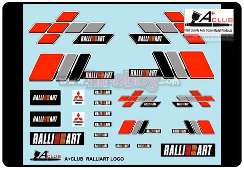 Compare Shipping Rates >> 1:24 Ralliart Logo Decals   A+DC-2400S   A+ Club