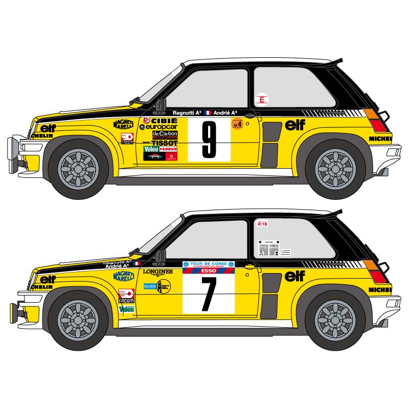 1 24 Renault 5 Turbo 1981 82 Decals Tamiya Shk D231